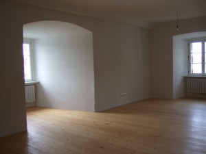 Ein leeres Zimmer in der Veste Niederhaus
