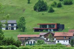 Flachdachhaus in Bezau.