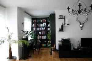 Bibliothek im Haus von Jessica und Bernhard.