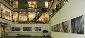 Norman Foster Ausstellung im Atrium des Verlagsgebäudes der Passauer Neuen Presse