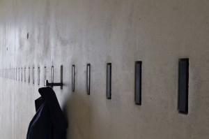 Garderobenhaken im Pfarrheim Herz Jesu in Ingolstadt