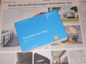 Die Architektouren werden in der Zeitung angekündigt.