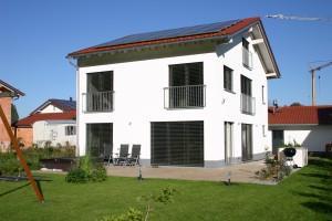 Passivhaus Engler in Burghausen Außenansicht