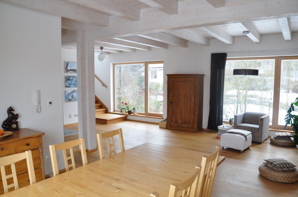 Wohnzimmer Haus Polz Blick nach Norden