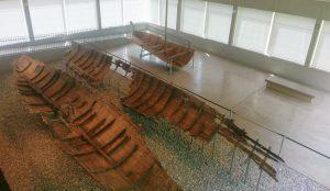 Römerausstellung mit Schiffswracks des Kelten Römer Museum Manching