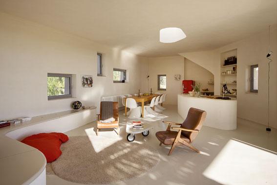Innenraum der Villa Vendicari aus dem Buch Urlaubsarchitektur