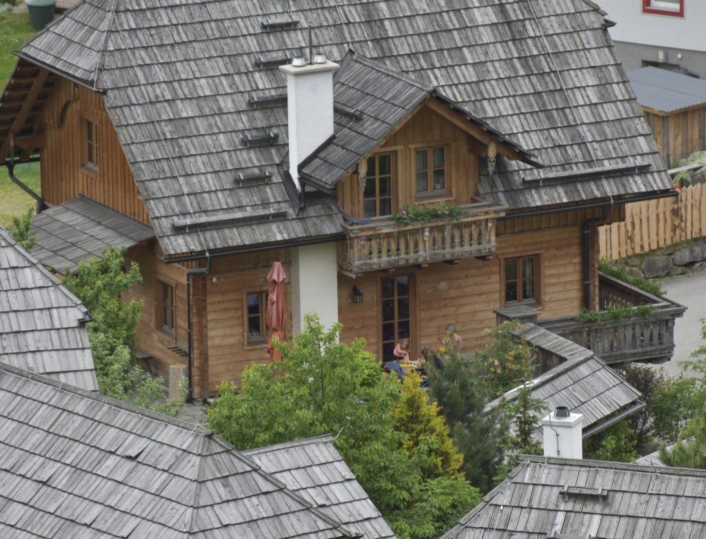 Hüttendorf im Lungau aus der Luft